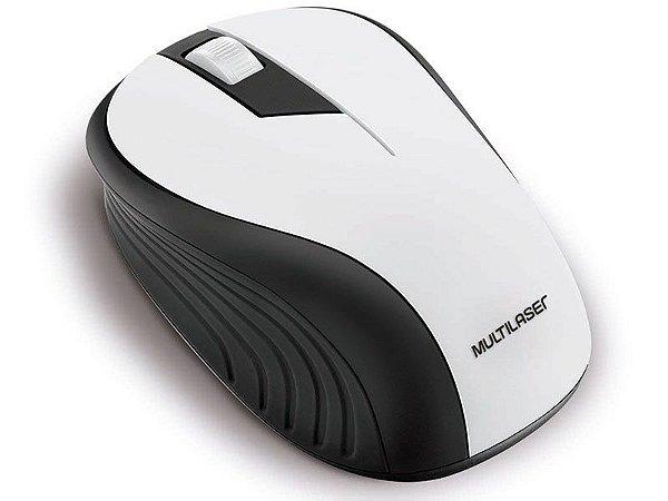MOUSE WIRELESS MOUSE MO216 ANATOMICO 2.4GHZ SEM FIO 1200 DPI USB PRETO E BRANCO