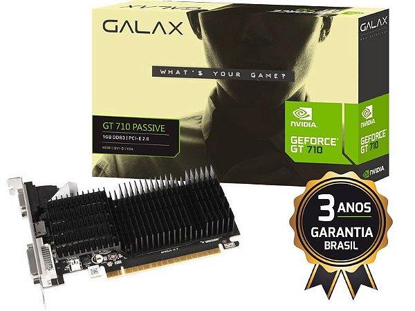 GALAX GEFORCE GT MAINSTREAM PLACA DE VIDEO GALAX 71GGF4DC00WG  GT 710 1GB DDR3 64BIT 1000MHZ DVI HDMI VGA