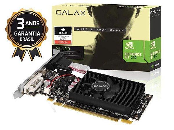GALAX GEFORCE GT MAINSTREAM PLACA DE VIDEO GALAX 21GGF4HI00NP 210 1GB DDR3 64BIT 1000MHZ DVI HDMI VGA