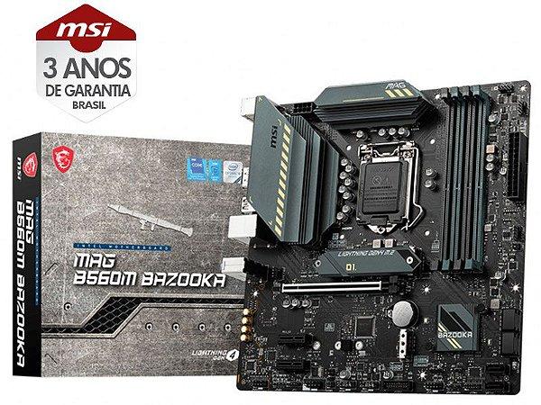PLACA MÃE DESKTOP LGA 1200 INTEL PLACA MÃE  911-7D18-002 B560M BAZOOKA MATX DDR4 5066MHZ OC DUAL M.2 HDMI USB 3.2