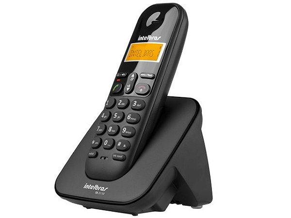 TELEFONE SEM FIO TELEFONE 4123110 TS 3110 PRETO DISPLAY ILUMINADO E IDENT. DE CHAMADAS