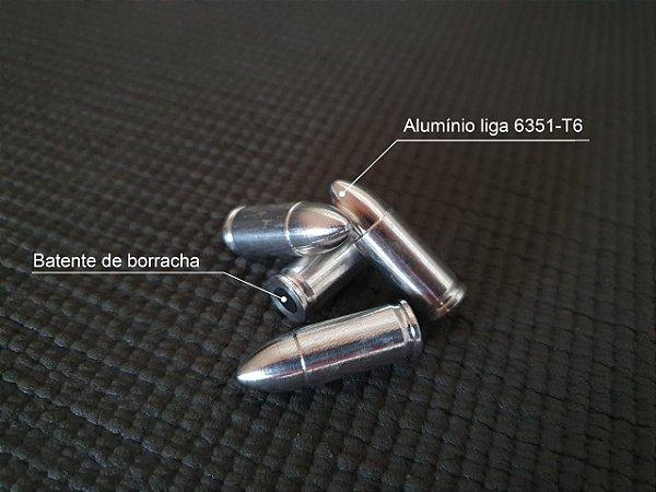 MUNIÇÃO DE MANEJO CALIBRE 9MM LUGER SNAP CAPS EM ALUMINIO