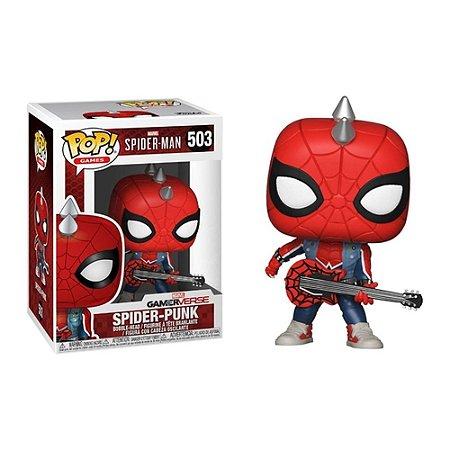 Boneco Funko Pop Marvel Spider Man -  Spider Punk 503