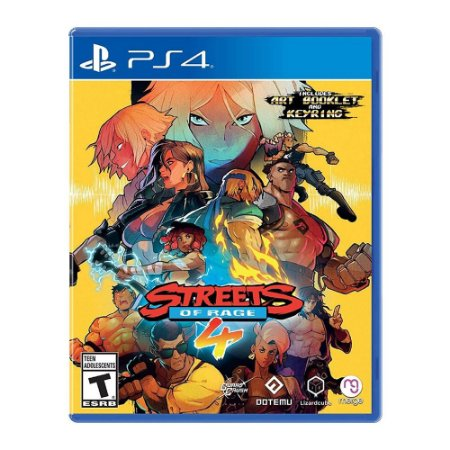Streets of Rage 4 + CHAVEIRO + ART BOOKLET - Ps4