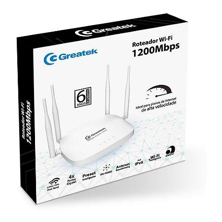 Roteador Wireless Gigabit Dual Band 1200 Mbps Greatek