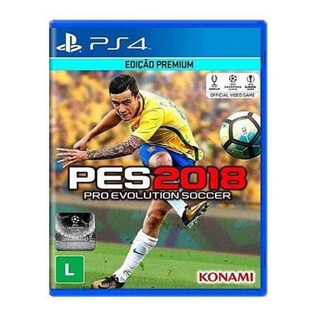 Jogo Pes 2018 - Edição Premium - Ps4