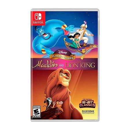Jogo Disney Classic Games Aladdin E O Rei Leão Nintendo Switch