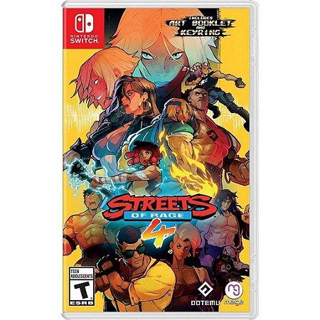 Jogo Streets Of Rage 4 + Chaveiro + Art Booklet -Nintendo Switch