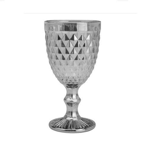 Taça Para Água Bico De Abacaxi Cinza 325ml