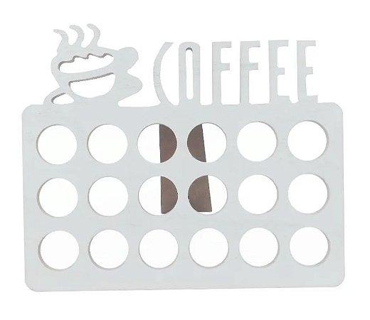 Porta Capsulas De Cafe Em Mdf Branco
