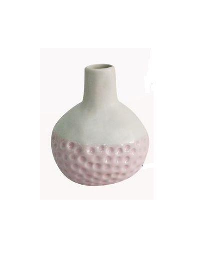 Vaso Bicolor de Ceramica Rosa