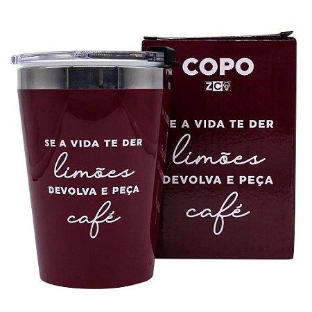 Copo Se a Vida lhe der Limões Devolva e Peça Café 300ml