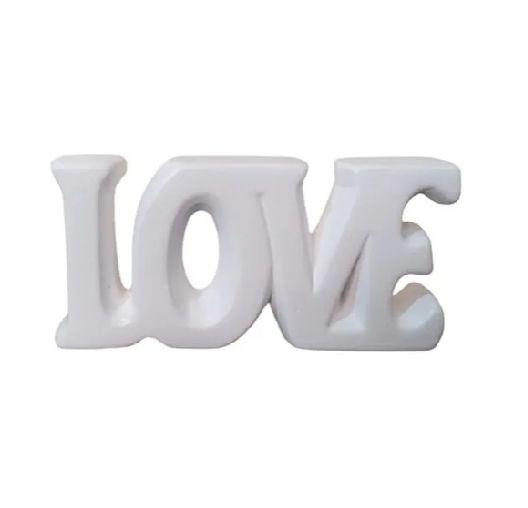 Enfeite de Mesa Love em Ceramica 14cm