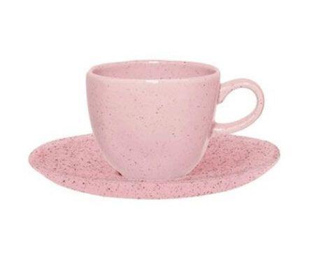 Xicara de Cha 220ml Com Pires - Pink Sand