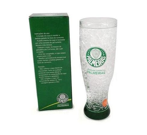 Copo De Cerveja Com Gel Congelante 450ml - Palmeiras