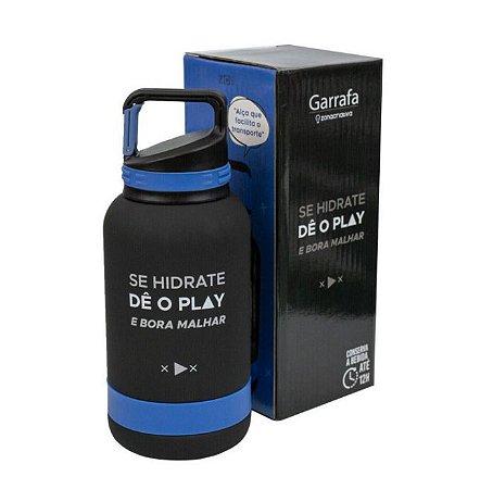 Garrafa Térmica Emborrachada Dê O Play 500 Ml