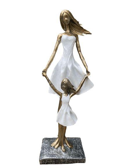 Mãe e Filha Decorativa de Resina