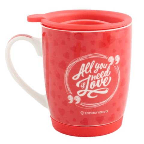 Caneca Com Tampa All You Need Is Love 350Ml