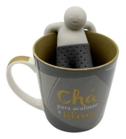 Caneca C/ Infusor Chá 350ml - Chá Para Acalmar A Alma