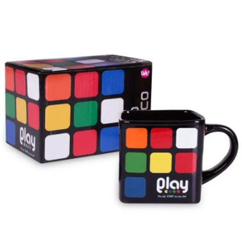 Caneca Quadrada Play Cubo Magico Colorida