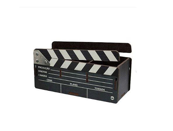 Porta Objetos Madeira - Claquete Cinema