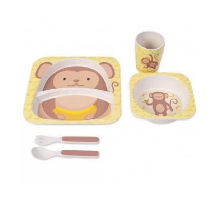 Kit Alimentação Bambu 5 Peças - Macaco Amarelo