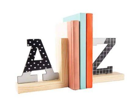 Aparador Suporte De Livros - Natural Colors Letras