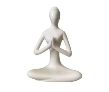 Enfeite de Porcelana Yoga