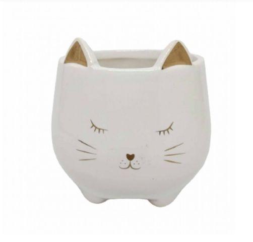 Vaso/Enfeite Decorativo Gato Porcelana