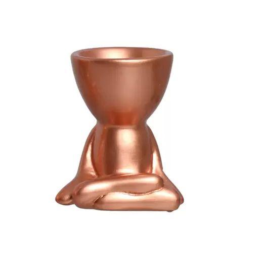 Vaso Robert Bronze Sentado Pernas Cruzadas de Ceramica