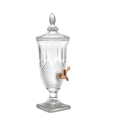 Suqueira de Cristal com Torneira Diamante Cobre 2litros