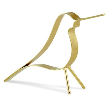 Escultura Passaro Em Metal Preto - P