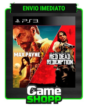 Max Payne Complete Edition 3 E Red Dead Redemption - Ps3 - Midia Digital