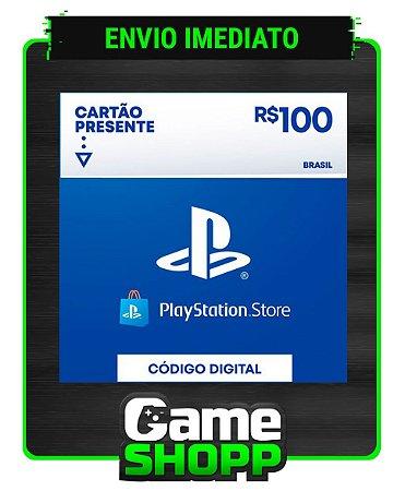 Playstation - Cartão PSN R$ 100 Reais - Brasil