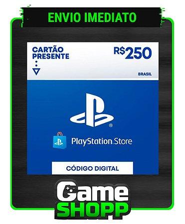 Playstation - Cartão PSN R$ 250 Reais - Brasil