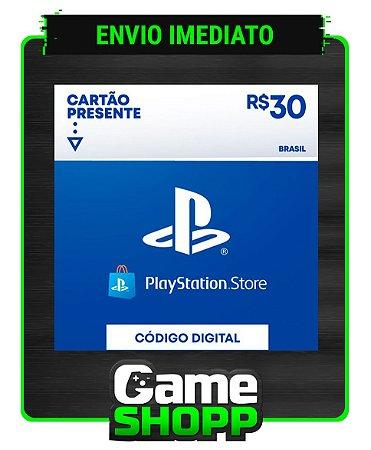 Playstation - Cartão PSN R$ 30 Reais - Brasil