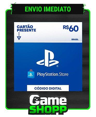 Playstation - Cartão PSN R$ 60 Reais - Brasil