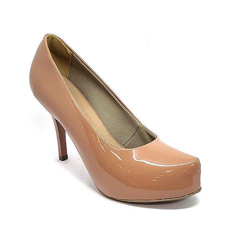 Sapato Hellen Suzan Meia Pata Salto 9 Verniz Pelê
