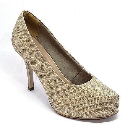 Sapato Hellen Suzan Meia Pata Salto 9 Lumicolor Cobre