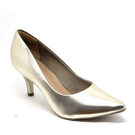 Sapato Hellen Suzan Bico Fino Salto 7 Ipanema Dourado