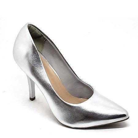 Sapato Hellen Suzan Bico Fino Salto 9 Ipanema Prata