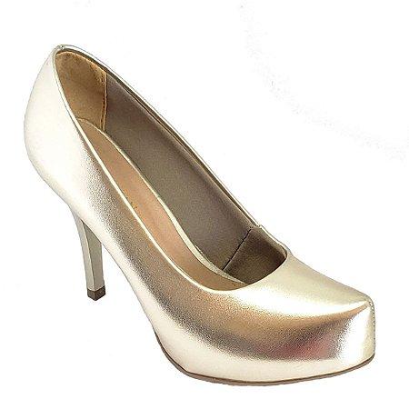 Sapato Hellen Suzan Meia Pata Salto 9 Ipanema Dourado