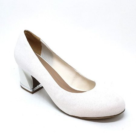 Sapato Hellen Suzan Salto Bloco Baixo Gliter Íris