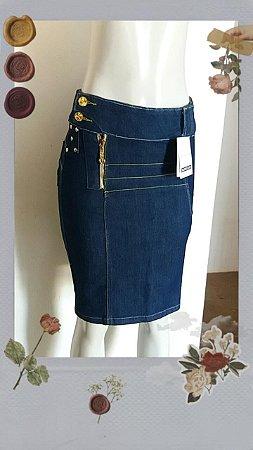 Saia Jeans Strass