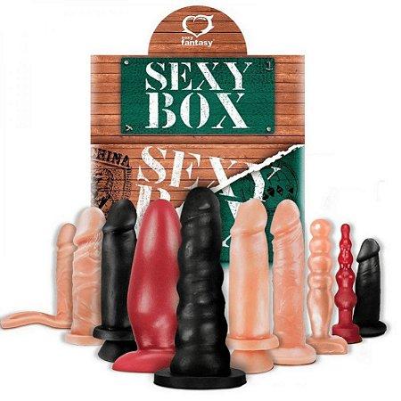 Pacote com 10 Próteses E Plugs Modelos Variados Sexy Fantasy