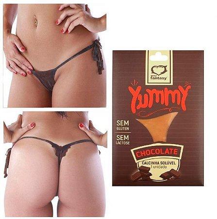 Calcinha Solúvel Yummy Sexy Fantasy - Chocolate