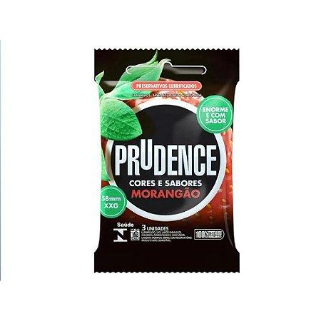 Preservativo Morangão Tamanho Xxg Com 3 Unid. Prudence