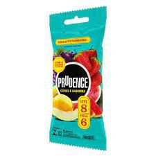 Preservativos Cores e Sabores Leve 8 Pague 6 Unidades Prudence Tm 52Mm