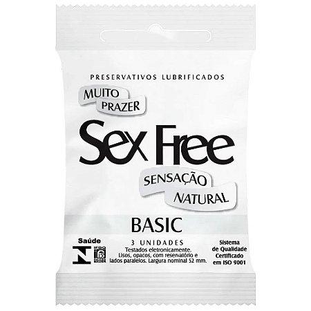 Preservativo Masculino Basic Com 3 Unid. Sex Free