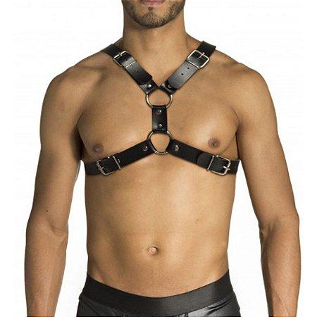 Harness Para Peitoral X Em Couro